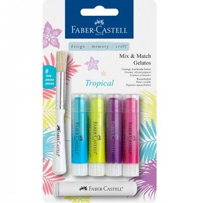 Faber-Castell Акварелни пастели Gelatos, комплект Tropical, 4 цвята