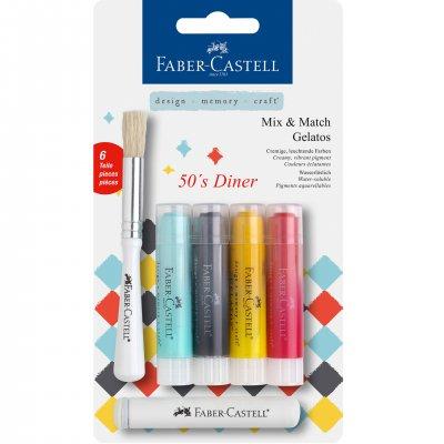 Faber-Castell Акварелни пастели Gelatos, комплект 50's Diner, 4 цвята