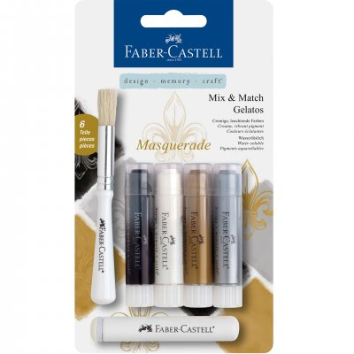 Faber-Castell Акварелни пастели Gelatos, комплект Masquerade, 4 цвята