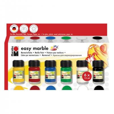 Marabu Мраморни бои Easy Marble, 15 ml, 6 цвята