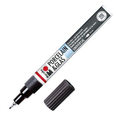 Marabu Mаркер за порцелан, черен, 1-2 mm, 073