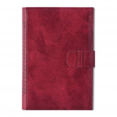 Календар-бележник Кинг, с дати, B5, червен