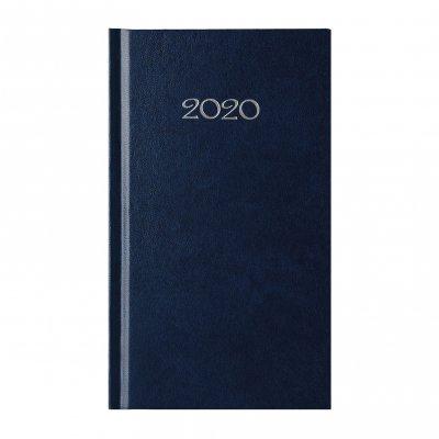 Календар-бележник Слим, седмичник, 9 x 16 cm, син