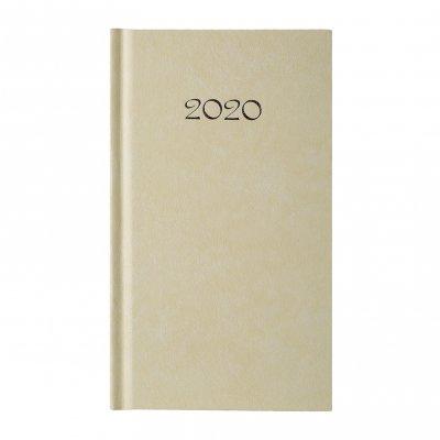 Календар-бележник Слим, седмичник, 9 x 16 cm, екрю