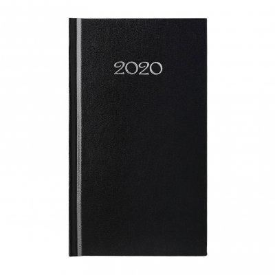 Календар-бележник Слим, седмичник, 9 x 16 cm, черен