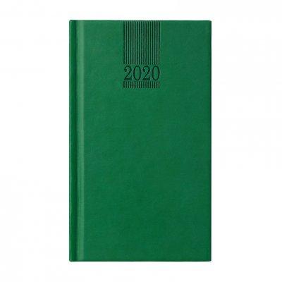 Календар-бележник Поло, седмичник, 9 x 16 cm, зелен