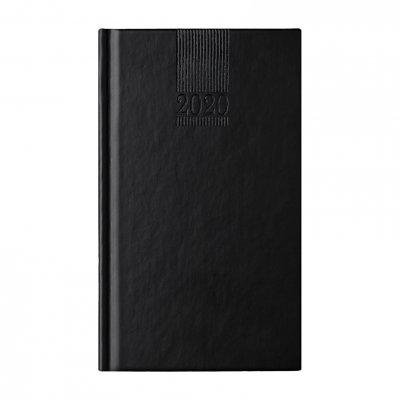 Календар-бележник Поло, седмичник, 9 x 16 cm, черен