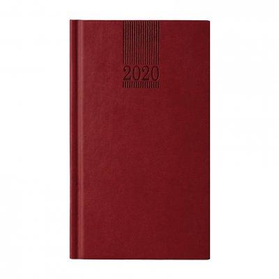 Календар-бележник Поло, седмичник, 9 x 16 cm, бордо