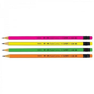 Молив с гума Faber-Castell Candy 1128 HB