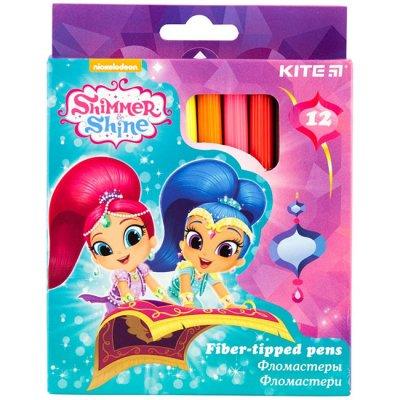 Флумастери Kite Shimmer&Shine 12 цвята в кутия