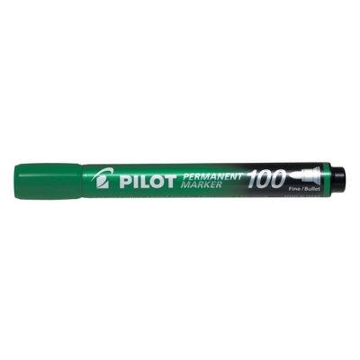 Перманентен маркер Pilot 100 объл връх Зелен
