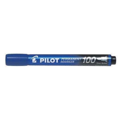 Перманентен маркер Pilot 100 объл връх Син
