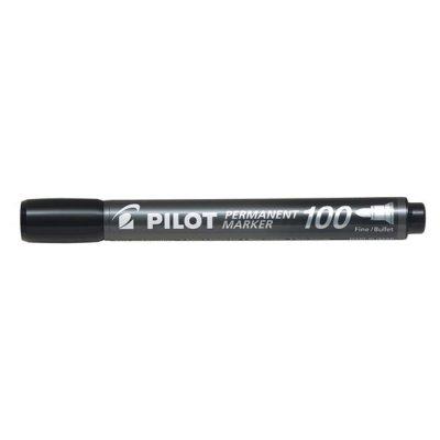 Перманентен маркер Pilot 100 объл връх Черен