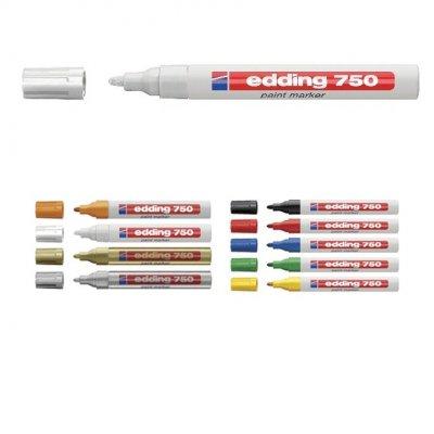 Paint маркер Edding 750 Объл връх Бял