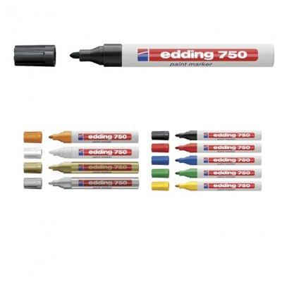Paint маркер Edding 750 Объл връх Черен