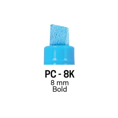 Маркер Uni PC-8K 8 mm Светложълт