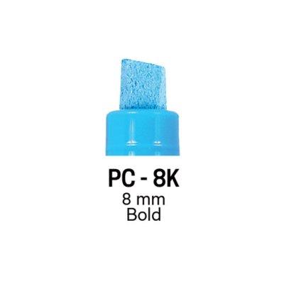 Маркер Uni PC-8K 8 mm Флуоресцентно червен