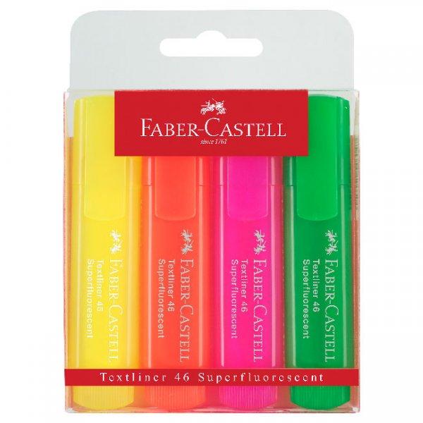 Комплект текстмаркери Faber-Castell 1546 4 цвята