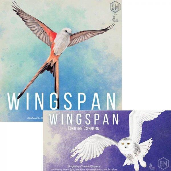 Бъндъл - wingspan (incl swift-start pack) - 2020 reprint + wingspan: European expansion