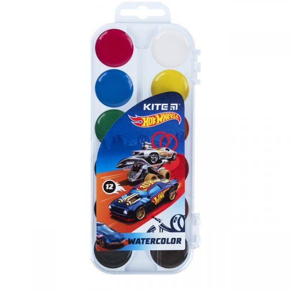 Водни бои Kite Hot Wheels медени 12 цвята