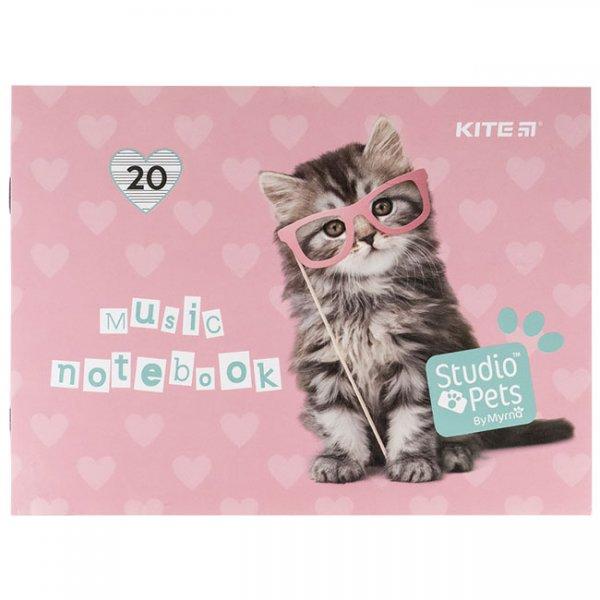 Нотна тетрадка Kite Studio Pets A5 20 л.