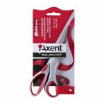 Ножица Axent Duoton 18 cm пластмасови дръжки Червен