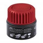 Faber-Castell Мастилница за перманентен маркер Grip, 25 ml, червена
