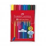 Faber-Castell Флумастери Grip, 10 цвята