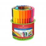 Faber-Castell Флумастери Connector, 45 цвята, с моливник
