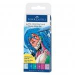 Faber-Castell Маркер-четка Pitt Artist Pen, 6 цвята, Shojo Manga