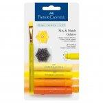 Faber-Castell Акварелни пастели Gelatos, комплект жълти нюанси, 4 цвята