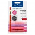 Faber-Castell Акварелни пастели Gelatos, комплект червени нюанси, 4 цвята