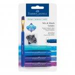 Faber-Castell Акварелни пастели Gelatos, комплект сини нюанси, 4 цвята