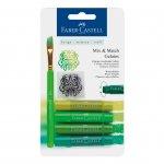 Faber-Castell Акварелни пастели Gelatos, комплект зелени нюанси, 4 цвята