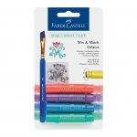 Faber-Castell Акварелни пастели Gelatos, комплект металикови нюанси, 4 цвята