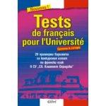 Tests de français pour l'Université