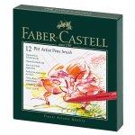 Faber-Castell Маркер-четка Pitt Artist Pen, B, 12 цвята, в кутия