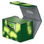 Кутия за карти - ultimate guard sidewinder chromiaskin (за lcg, tcg и др) 80+ - зелена