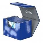Кутия за карти - ultimate guard sidewinder chromiaskin (за lcg, tcg и др) 80+ - синя