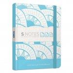 Gipta S-notes Тетрадка 13 x 21 cm, кремава, широки редове, твърда корица, с ластик, 120 листа