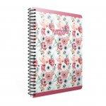Gipta Flamingo Тетрадка А4, бяла, широки редове, микроперфорация, PP корица, със спирала, 80 листа