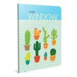 Gipta Window Тетрадка А4, бяла, широки редове, PP корица, 60 листа
