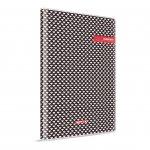 Gipta Margin Тетрадка 17 x 24 cm, кремава, широки редове, PP корица, шита, 96 листа