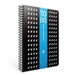 Gipta To Do Тетрадка А4, бяла, широки редове, картонена корица, със спирала, 80 листа