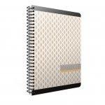Gipta Cotton Тетрадка 17 x 24 cm, кремава, широки редове, микроперфорация, картонена корица, със спирала, 80 листа