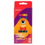 Цветни моливи Kite Jolliers двустранни 12 бр.