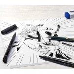 Faber-Castell Комплект Pitt Manga Starter, молив, писец и гума