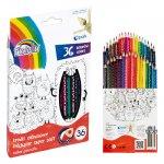 Цветни моливи Fiorello Super Soft 36 цвята