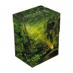Кутия за карти - ultimate guard deck case lands edition ii (за lcg, tcg и др) 80+ - forest